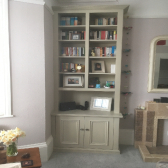 cabinet with shelving and bookshelf