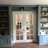 custom fitted cabinets and bookcases